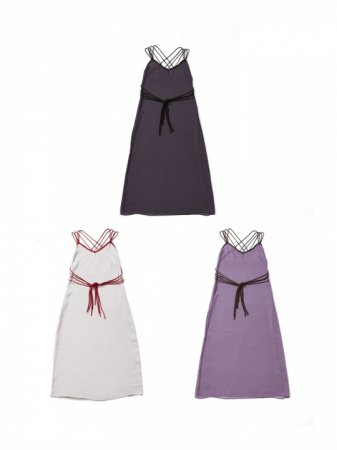 <img class='new_mark_img1' src='https://img.shop-pro.jp/img/new/icons38.gif' style='border:none;display:inline;margin:0px;padding:0px;width:auto;' />MARTE Piping Back Cross Cami Dress