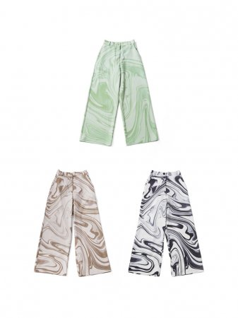 MARTE Marble Pattern Pants