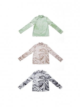 <img class='new_mark_img1' src='https://img.shop-pro.jp/img/new/icons38.gif' style='border:none;display:inline;margin:0px;padding:0px;width:auto;' />MARTE Marble 2way Sleeve Tops