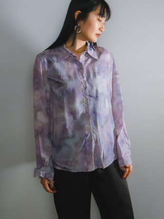 <img class='new_mark_img1' src='https://img.shop-pro.jp/img/new/icons5.gif' style='border:none;display:inline;margin:0px;padding:0px;width:auto;' />Tie-die Shirt / Lavender, Yellow