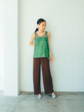 Color Pleats Pants / 14colors
