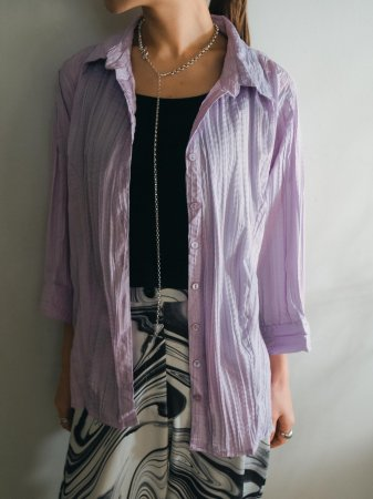 Lavender Pleated Shirt