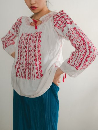 Rumanian Embroidered Blouse