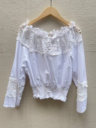 Flower Lace Switched Top
