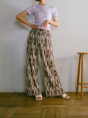 Abstract Pattern Pleats Pants