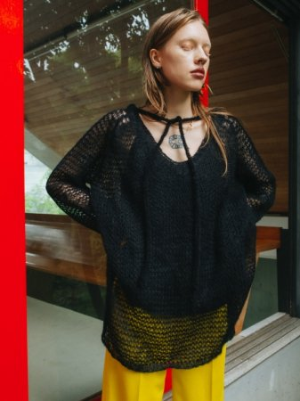 MARTE Mohair Mix Over Knit