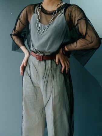 Black Sheer Long Tee Dress