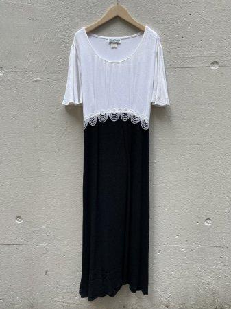80s Monotone Waist Lace Relax Dress