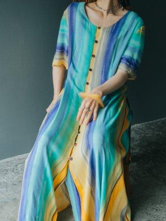 Gradation Color Relax Dress