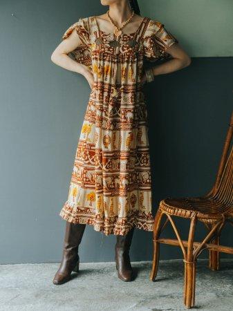 Ancient Pattern African Batik Dress