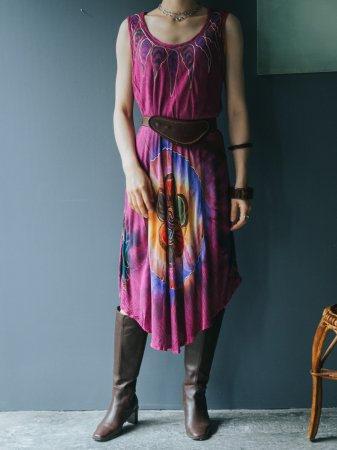 Purple Tye Die Relax Dress