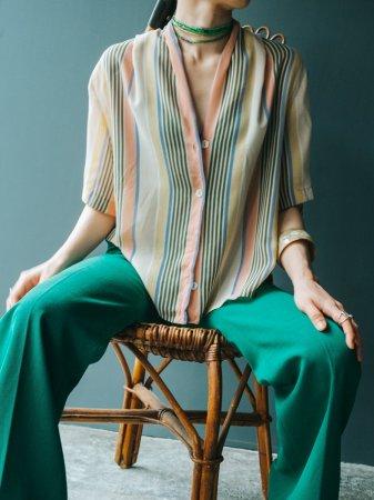 Strip Tuck Design Shirt