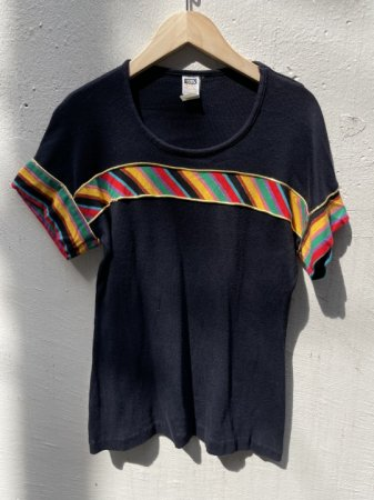 Multi Stripe Design T-shirt