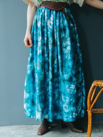 Tie-dye Design Long Skirt