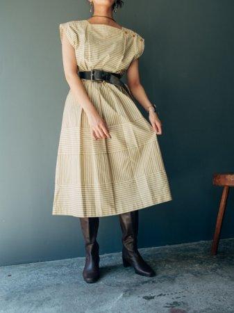Pin-stripe Switching Dress