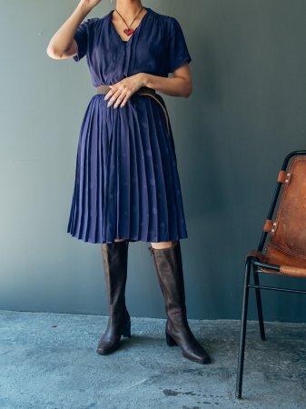 Dot Design Half Sleeves Shirt Dress