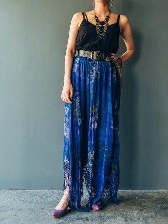 Ethnic Pattern Fringe Skirt