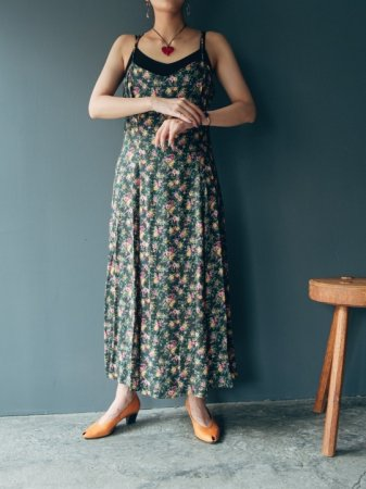 Green Petit Flower Camisole Dress