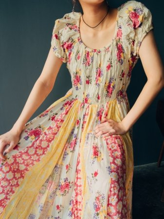 Flower Switching Relaxing Dress