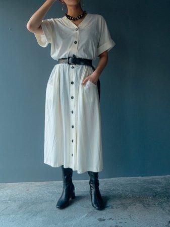 Monotone Flare Silhouette Jersey Dress