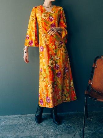 Bell Sleeves Tropical Dress