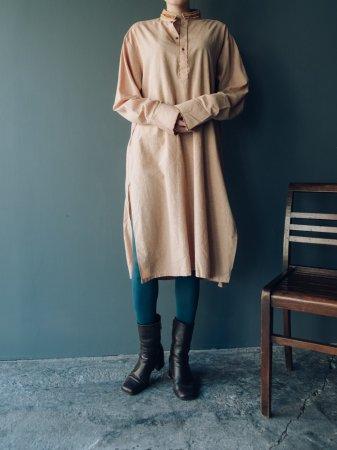 Stand Collar Shantung Dress