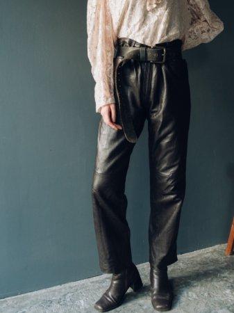 Dark Brown Fake Leather Pants