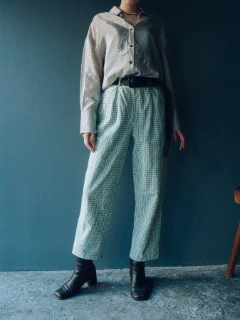 Gingham Plaid Cotton Pants