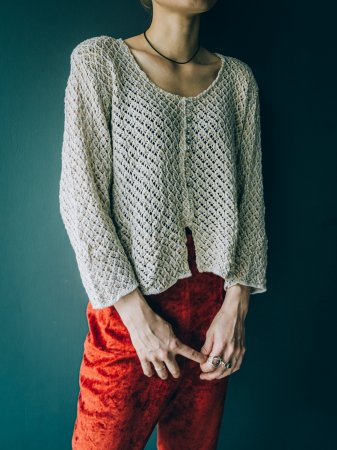 Compact Sized Knit Cardigan