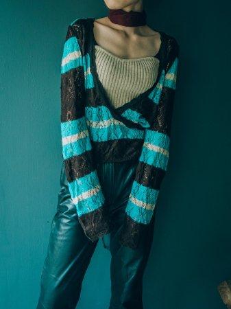 Cache-coeur Acrylic Knit Cardigan