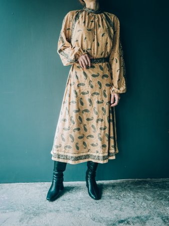 Paisley Patterned Polyester Dress