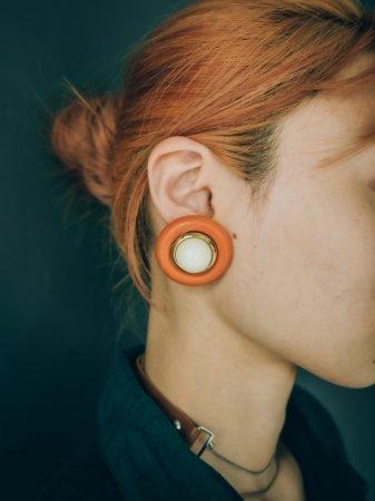 Round Shape Plastic Earrings