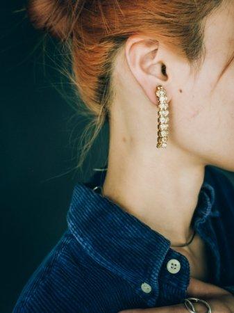 Triple Rhinestone Earrings
