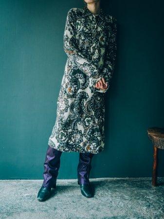Paisley Knit Midi Dress