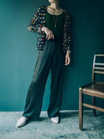 Crochet Beads Knit Cardigan