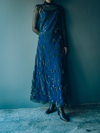 Velvet Burntout Camisole Dress