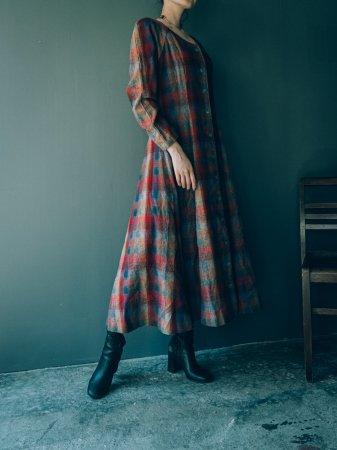 Plaid Patterned Flare Dress