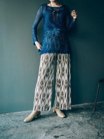 Crochet Knit Top / Blue