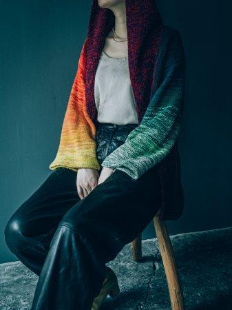 Rainbow Colored Knit Jacket