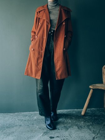 Terracotta Colored Trench Coat