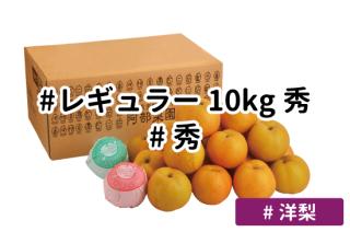 レギュラー秀10kg【洋梨】