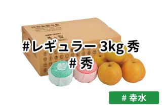 レギュラー秀3kg【幸水】