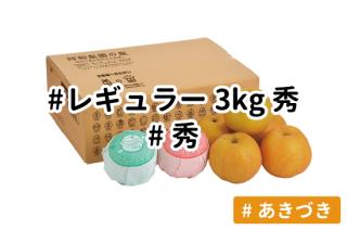 レギュラー秀3kg【あきづき】
