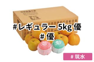 レギュラー優5kg【筑水】