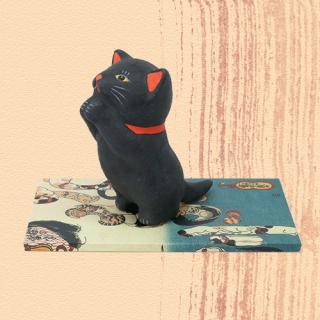 Ukiyo-e Cat kuro / inori 「浮世絵猫 くろ/いのり」