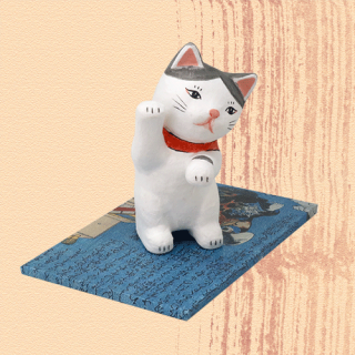 Ukiyo-e Cat hachi / maneki「浮世絵猫 はち/ まねき」