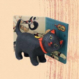 Ukiyo-e Cat kuro / amae 「浮世絵猫 くろ/あまえ」