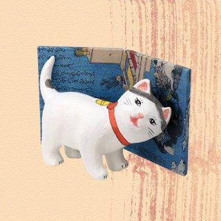 Ukiyo-e Cat hachi / amae 「浮世絵猫 はち /あまえ」