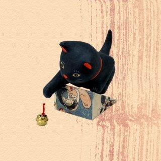 Ukiyo-e Cat kuro / jare 「浮世絵猫 くろ /じゃれ」