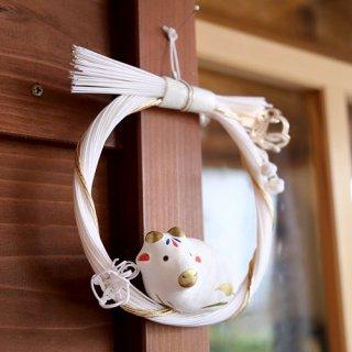 しめ縄飾り 白梅
